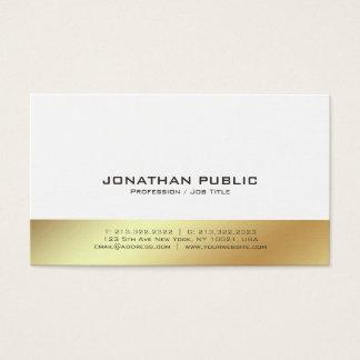 Cartão De Visitas Planície elegante profissional moderna do branco e