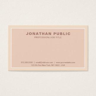 Cartão De Visitas Planície elegante profissional moderna lustrosa da