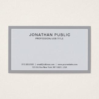 Cartão De Visitas Planície elegante profissional moderna lustrosa do