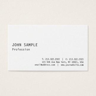 Cartão De Visitas Planície esperta profissional branca moderna