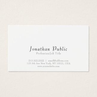 Cartão De Visitas Planície limpa branca elegante moderna