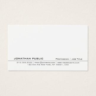 Cartão De Visitas Planície limpa criativa branca profissional