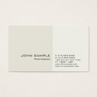 Cartão De Visitas Planície limpa elegante profissional moderna