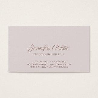 Cartão De Visitas Planície lustrosa da cor elegante profissional do