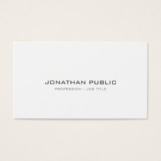 Cartão De Visitas Planície lustrosa moderna profissional sofisticada