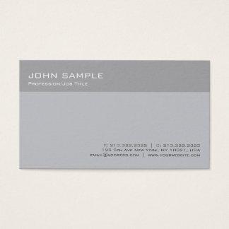 Cartão De Visitas Planície mínima profissional cinzenta à moda
