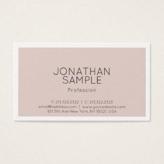 Cartão De Visitas Planície minimalista à moda moderna profissional