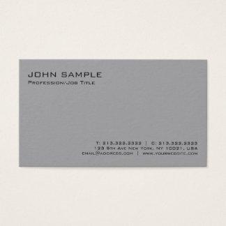 Cartão De Visitas Planície minimalista profissional cinzenta