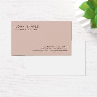 Cartão De Visitas Planície minimalista profissional das cores