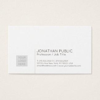 Cartão De Visitas Planície moderna profissional minimalista com