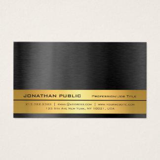 Cartão De Visitas Planície preta profissional elegante moderna do