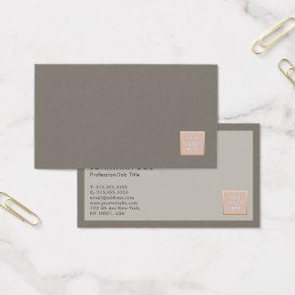 Cartão De Visitas Planície profissional moderna das cores elegantes