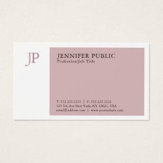 Cartão De Visitas Planície profissional moderna do monograma da cor
