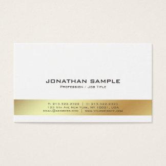 Cartão De Visitas Planície profissional moderna elegante do branco e