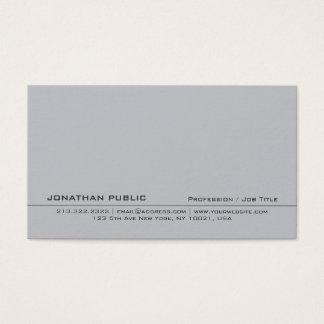 Cartão De Visitas Planície simples criativa cinzenta profissional