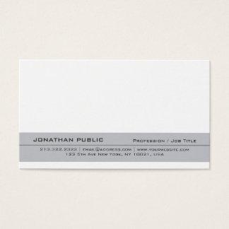 Cartão De Visitas Planície simples criativa elegante moderna do
