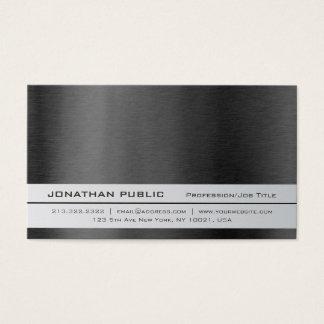 Cartão De Visitas Planície simples de prata profissional elegante
