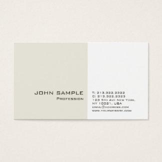 Cartão De Visitas Planície simples elegante profissional moderna