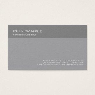 Cartão De Visitas Planície simples profissional cinzenta elegante