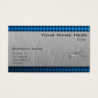 Cartão De Visitas Plano escovado do Metal-olhar
