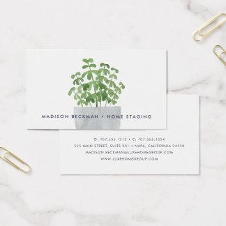 Cartão De Visitas Planta da aguarela