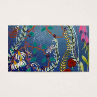 Cartão De Visitas Plantas coloridas