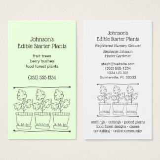 Cartão De Visitas Plantas do acionador de partida da planta e do
