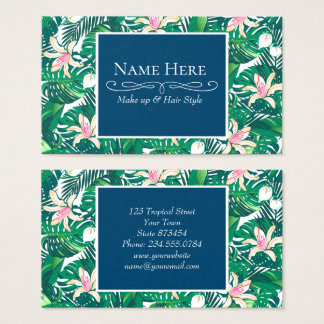 Cartão De Visitas Plantas luxúrias verdes