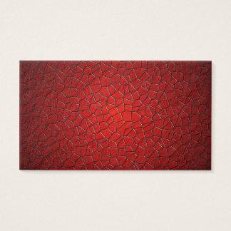 Cartão De Visitas Polígono vermelhos
