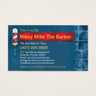 Cartão De Visitas Pólo do Cartão-Barbeiro do negócio do barbeiro,
