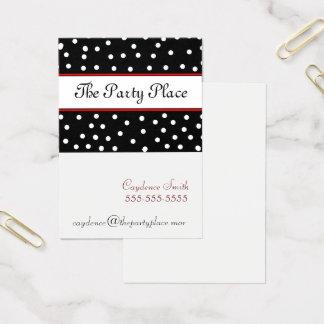 Cartão De Visitas Ponto-Marrom preto e branco