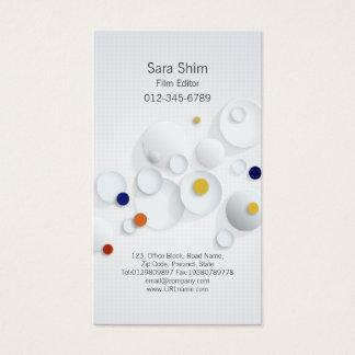 Cartão De Visitas Pontos abstratos dos meios das artes visuais do