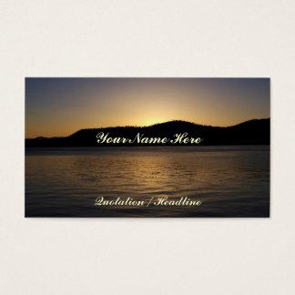 Cartão De Visitas Por do sol ambarino