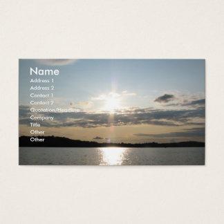 Cartão De Visitas Por do sol bonito