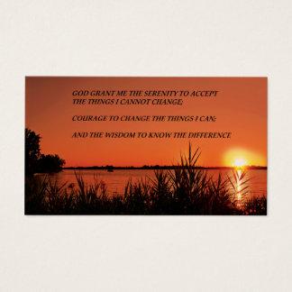 Cartão De Visitas Por do sol da oração da serenidade