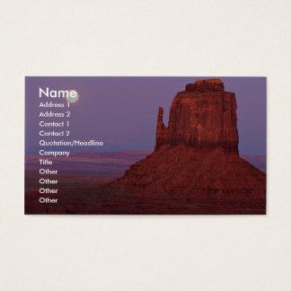Cartão De Visitas Por do sol e moonrise no montículo do mitene,