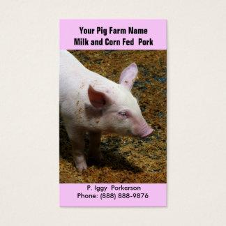Cartão De Visitas Porco do bebê para o cultivo da carne de porco