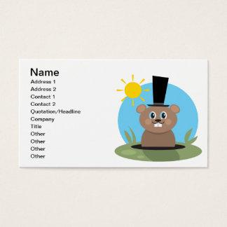 Cartão De Visitas Porco feliz