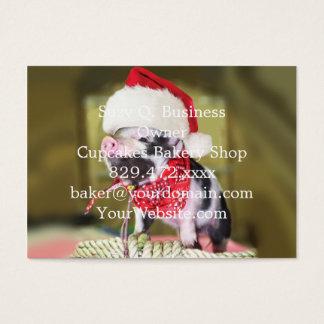 Cartão De Visitas Porco Papai Noel - porco do Natal - leitão