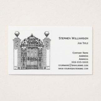 Cartão De Visitas Porta decorativa do metal do ferro forjado