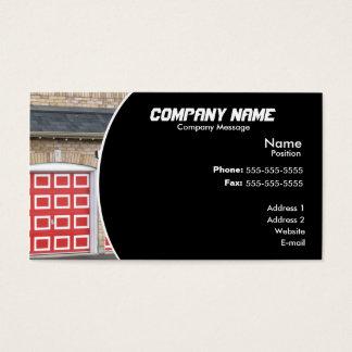 Cartão De Visitas Porta vermelha da garagem