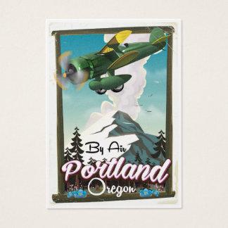 Cartão De Visitas Poster das viagens vintage de Portland, Oregon