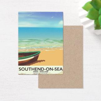 Cartão De Visitas Poster das viagens vintage do Southend-em-Mar,