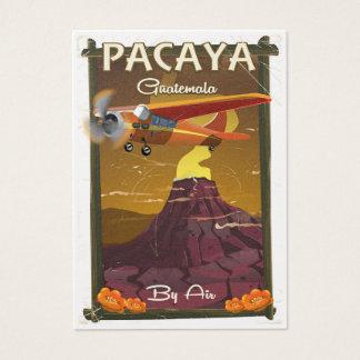 Cartão De Visitas Poster de viagens de Guatemala do vulcão de Pacaya