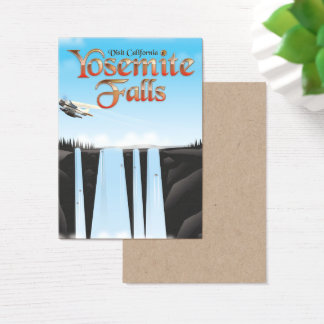 Cartão De Visitas Poster de viagens de Yosemite Falls Califórnia