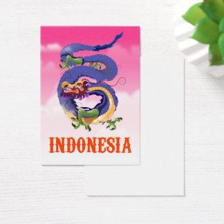 Cartão De Visitas Poster de viagens retro do dragão de Indonésia