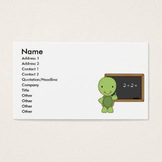 Cartão De Visitas pouca tartaruga do quadro