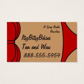Cartão De Visitas Pouco biquini vermelho