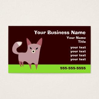 Cartão De Visitas Pouco Fox