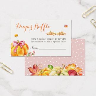Cartão De Visitas Pouco Raffle da fralda do chá de fraldas da menina